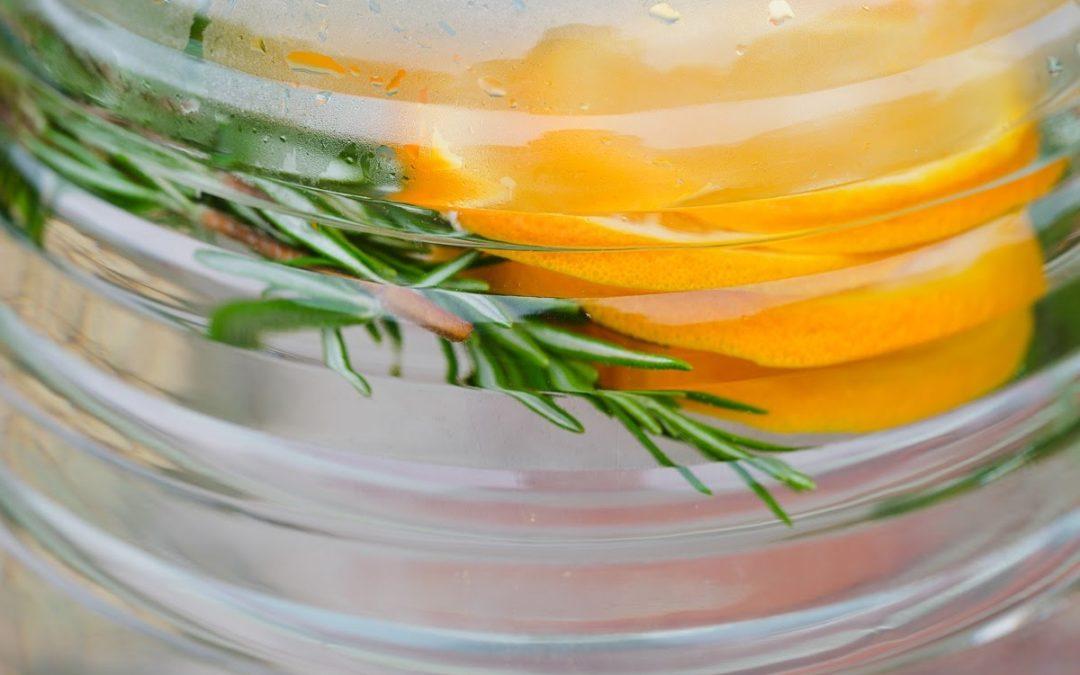 Orange and Rosemary Water