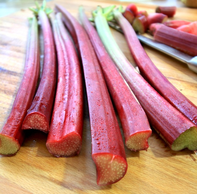 Orange Maple Roasted Rhubarb