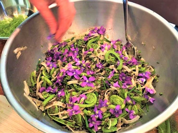 Fiddlehead Fern and Black Lentil Salad