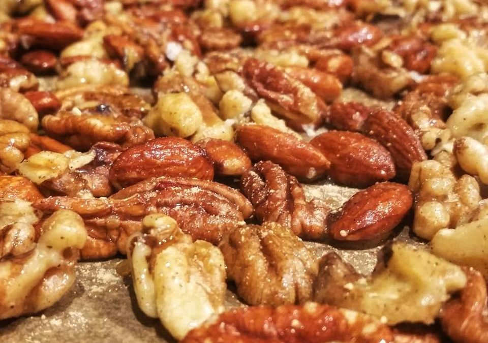 Cider Maple Spiced Nuts