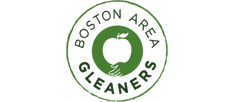 logo of an apple and boston area gleaners textg