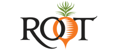 root text with a carrot sketch for a o